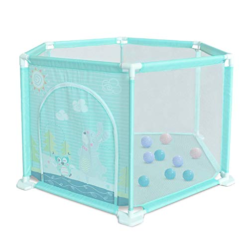 Game Fence Game Playpen Children's Game Protective Fence Marine Ball Pool Indoor Playground Best Gift for Kids (Color : Green, Size : 146x146x74cm)