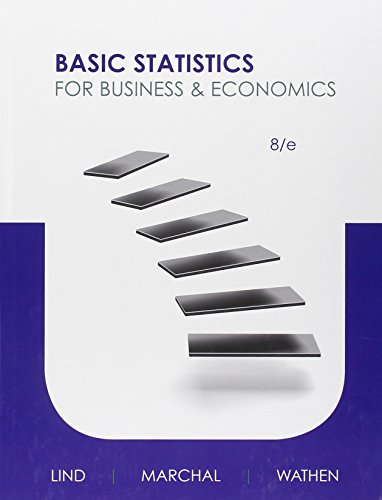Compare Textbook Prices for Basic Statistics for Business and Economics 8 Edition ISBN 9780073521473 by Lind, Douglas,Marchal, William,Wathen, Samuel