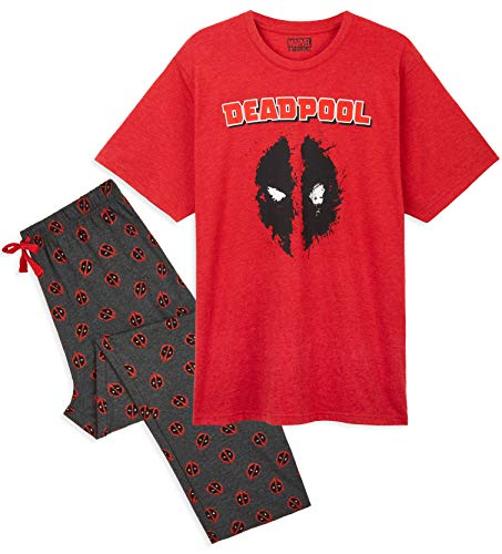 Marvel Pijama Hombre, Conjunto 2 Piezas...