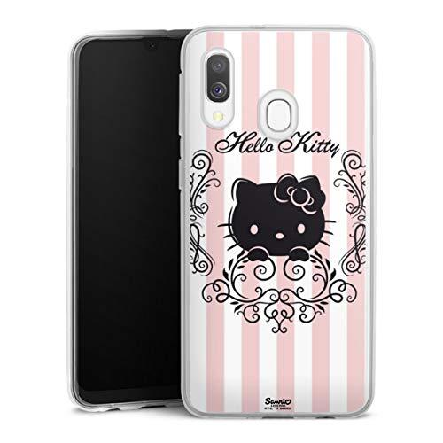 DeinDesign Silikon Hülle kompatibel mit Samsung Galaxy A40 Hülle transparent Handyhülle Hello Kitty Hanami Offizielles Lizenzprodukt