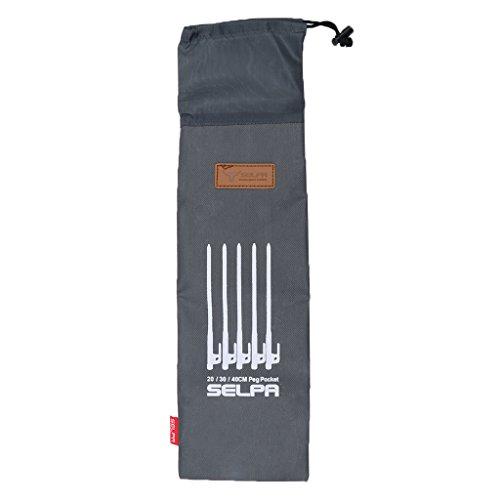 MagiDeal Tent Pegs Oxford Sac de Rangement Ultra Renforcée Durable Porte Piquet de Tente Pour Camping-40cm