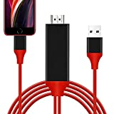 iPhone HDMI変換 ケーブル iPhone/iPad/iPod HDMIをテレビ出力 lighting HDMI 変換ケーブル 1080P高解像度 設定不要 急速充電 ライトニング HDMI 接続ケーブル 画面と音声同時出力 iOS対応