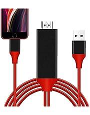 iPhone HDMI変換 ケーブル iPhone/iPad/iPod HDMIをテレビ出力 lighting HDMI 変換ケーブル 1080P解像度 設定不要 急速充電 ライトニング HDMI 接続ケーブル 画面と音声同時出力 iOS対応