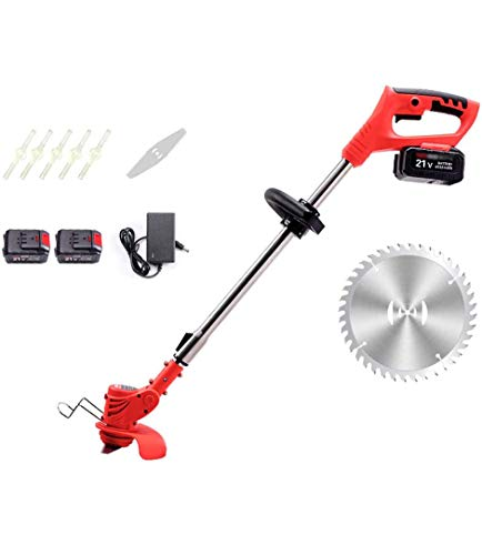 Buy JXH Cordless Grass Lawn Edge Trimmer,Grass Trimmer, Strimmer Telescopic Handle 21V,with 3 Kinds ...