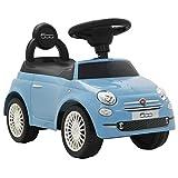 Festnight- Correpasillos Coche Fiat 500 Azul 60 x 28 x 38 cm
