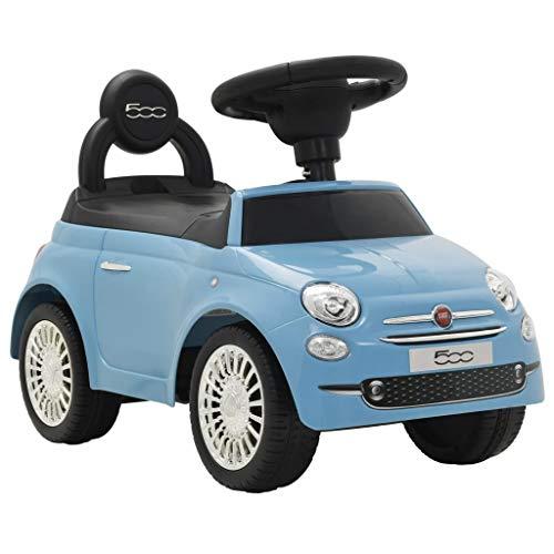 vidaXL Coche Correpasillos Azul Vehículo Auto Carrito Juguete Juego Infantil