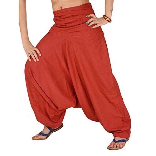 indiano Cottage Crafts pantaloni alla turca cotone pantaloni yoga Afghani indiano GENIE Aladdin Maroon pantaloni, donna, Rust Orange, Approx 40 Inches