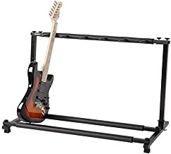 9 Holder Guitar Stand, Multi-Guitar Display Rack Folding Stand Band Stage Bass Acoustic Guitar Perfect for Stage Studio or Home, Black