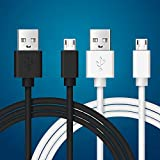 Abysssea 2 Pack USB Charger Cable Compatible with for Xbox One X/Xbox One S/Xbox One Elite/Xbox One Controllers-Micro USB 2.0 Data Sync - 6.6FT