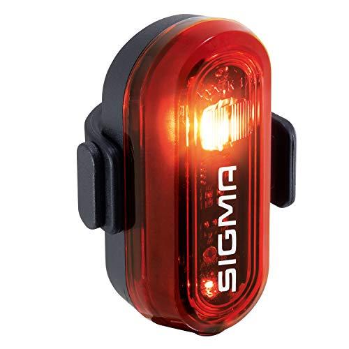 Sigma Sport - Curve | Luci LED per Biciclette | Luce Posteriore a Batteria Omologata Secondo Il regolamento Tedesco StVZO | Colore: Nero