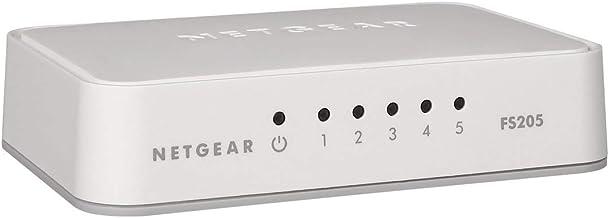 Netgear FS205 5-Port Fast Ethernet LAN Switch Unmanaged (10/100 MBit/s, moderner..