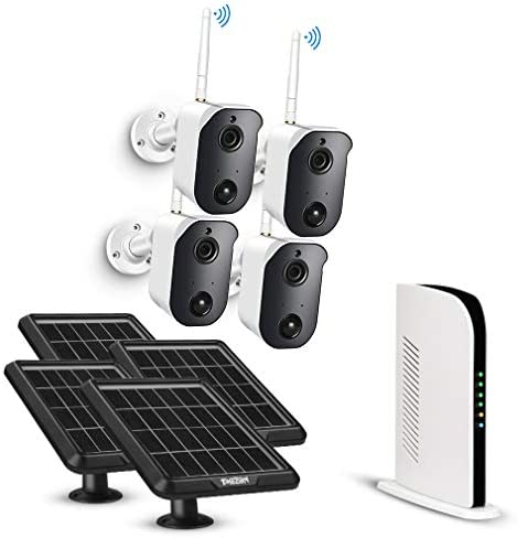 Wireless Security Camera System Battery Solar Powered Rechargeable Panel Night Vision WiFi Camera product image