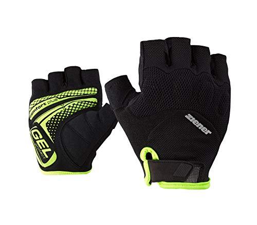 Ziener Herren COLIT Fahrrad-, Mountainbike-, Radsport-Handschuhe   Kurzfinger - atmungsaktiv/dämpfend/rutschfest, black.poison yellow, 11