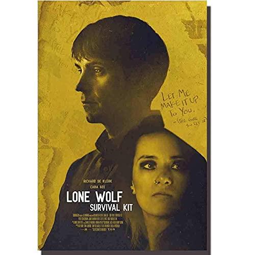 WEUEWQ póster Kit de Supervivencia de Lobo Solitario, póster de película, decoración artística, Pintura Interior, Regalo, decoración del hogar, 60x80 cm x 1 sin Marco