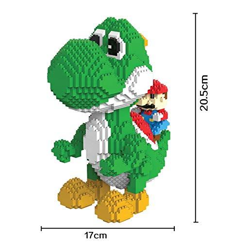 Figura Yoshi Super Mario Bros Juego Bloques de construccion tamaño 20 cm DIY Mini Building Puzzle Juguete niños colección