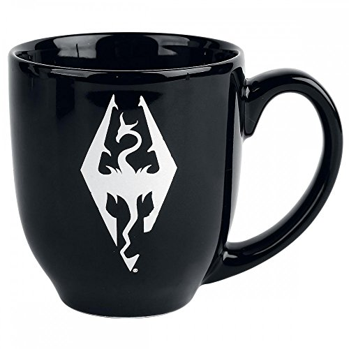 The Elder Scrolls V: Skyrim Tasse Logo - schwarz, bedruckt, aus Keramik.