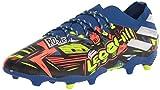 adidas Boys' Nemeziz Messi 19.4 Turf Soccer Shoe, Royal Blue/Silver/Yellow, 4 Big Kid