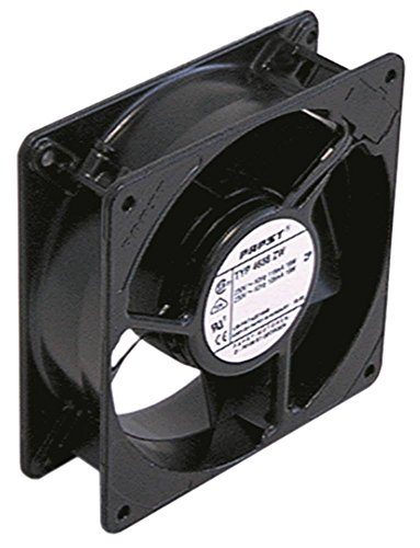 ebm-papst 4580Z - Ventilador axial (13 W, 230 V CA, 50/60 Hz, conector plano de 2,8 mm, ancho de 119 mm, altura de 38 mm, longitud de 119 mm)