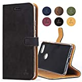 Snakehive Google Pixel 3a Case, Genuine Leather Wallet with
