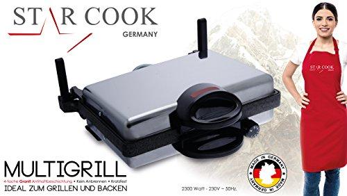 """JOLTA Scheffler - Multigrill """"Tandur"""" con rivestimento in granito, elettrico, grill da tavolo,ideale per diete e lahmacun"""