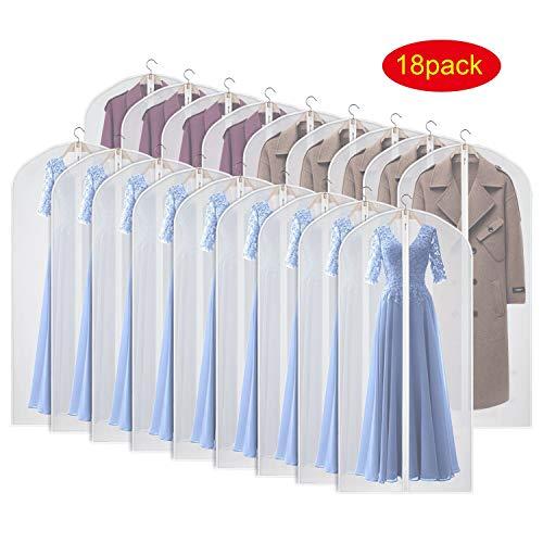 Kleidersack kleiderhülle Abdeckungen für Lagerung, 152cm Anti-Motten-Schutz, faltbar waschbar für langes Kleid Kleider Mäntel