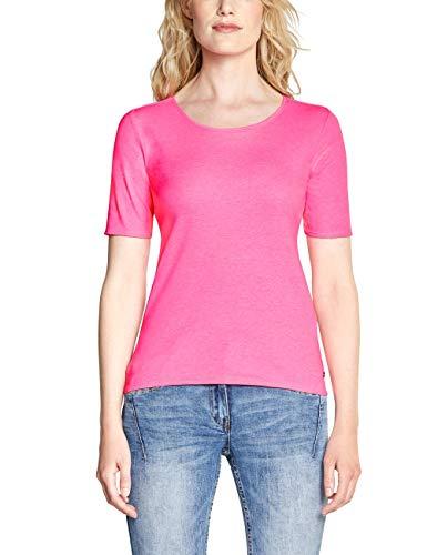 CECIL Damen 313305 Lena T-Shirt, Rosa (neon active pink 11749), X-Large (Herstellergröße:XL)
