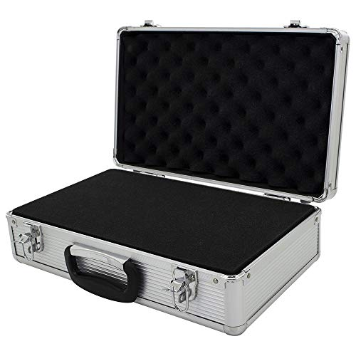 ROC Cases Flight Case Silver with foam inner (L400xW240xH125mm)