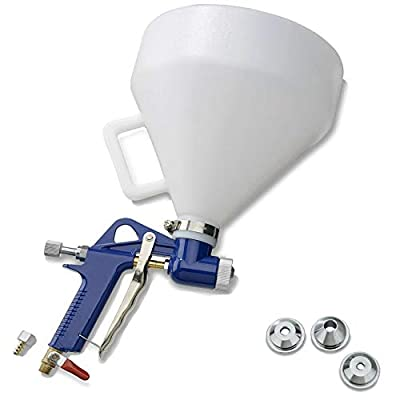 AMZFDC Air Hopper Spray Gun with 4.0mm/6.0mm/8.0mm Nozzle Paint Texture Drywall Painting Sprayer, White, 1.5 Gallon by AMZFDC