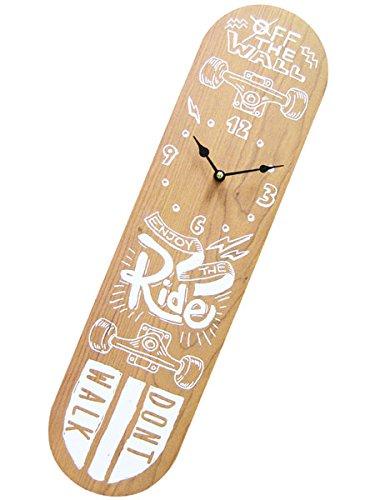 スケートボード ウォールクロック/NT 壁掛け時計「SKATE BOARD/スケボー/NT」オリンピック・通販/インテリ...