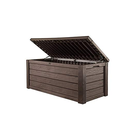 Keter Eastwood Deck Box 570 Litres - Weatherproof Durable Polypropylene Resin Construction - Extra Large Storage Capacity Sturdy Ventilated Box