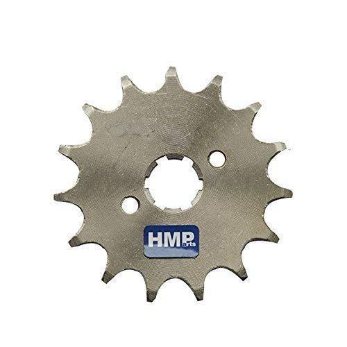 HMParts Dirt Bike/Pit Bike/Quad/ATV/Pignon Monkey Dax 420 avec la Plaque de Verrouillage Différentes Tailles 17 mm Tige - 420 17 Z. 17 mm
