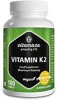 Vitamaze® Vitamina K2 MK-7 Alto Dosaggio Menachinone, 180 Compresse Vegan, Qualità Tedesca, Naturale Integratore...
