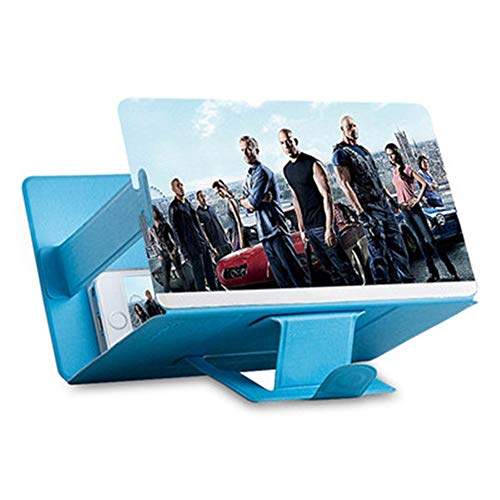 Heman779t Screen Magnifier for Smartphone,Mobile Phone 3D Magnifier Projector Screen for Movies, Videos, and Gaming,Foldable Phone Stand with Screen Amplifier,Compatible with All Smartphones