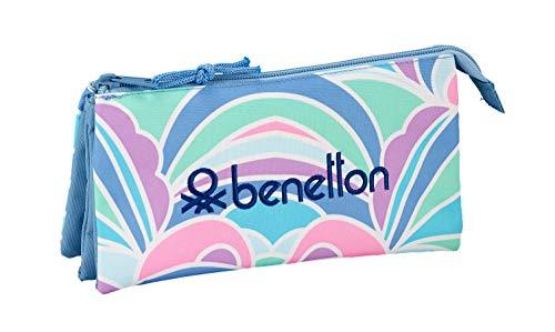 Benetton 'Arcobaleno' Oficial Estuche Escolar 220x30x100mm