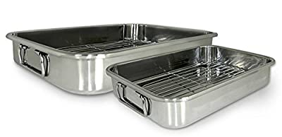 Cook Pro 561 4-Piece All-in-1 Lasagna and Roasting Pan (Renewed)