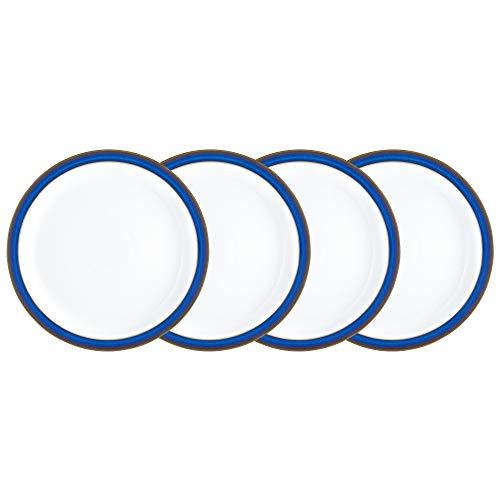 Denby Speiseteller, Imperial Blue, Set 4, Stein, blau, 6.5 x 28 x 28 cm