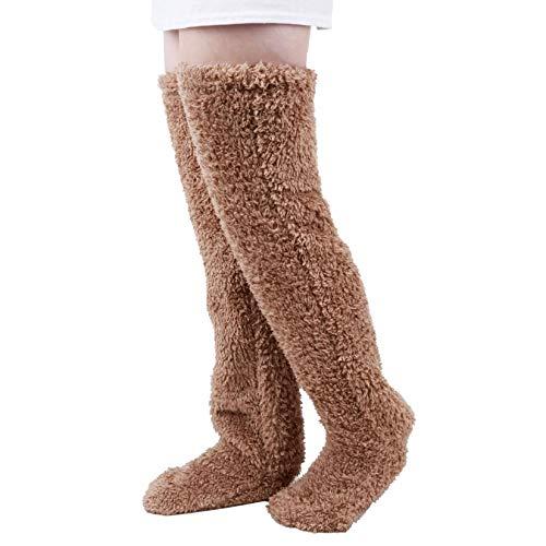 [Lvcao] 足が出せるロングカバー ヒートソックス 防寒ソックス ルームブーツ ロングカバー 軽量 ぽかぽか 室内 もこもこ ルームソックス 毛布ソックス 冷え対策