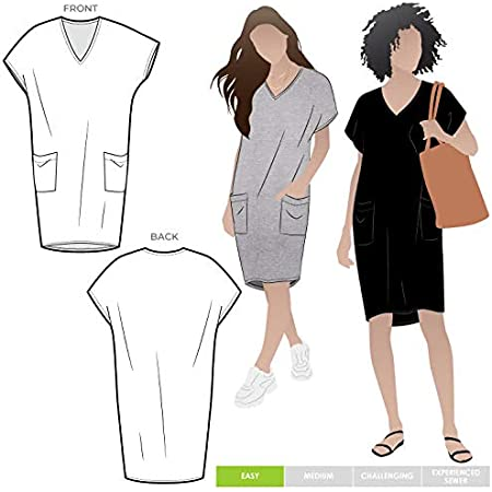 Style Arc Sewing Pattern Murphy Woven Dress Sizes 04-16 - Click for Other Sizes Available