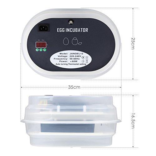amzdeal Inkubator Brutkasten 9-12 Hühnereier - 2