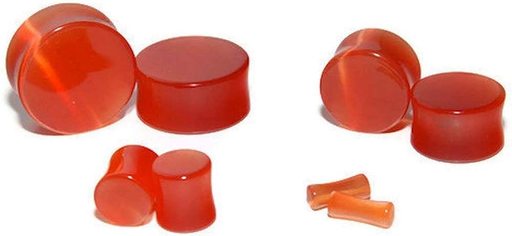 Intrepid Jewelry Blood Orange Cats Eye Plugs Double Flared