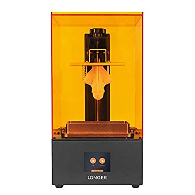 LONGER Orange 30 3D Printer, UV Photocuring 3D Printer with 2K High Resolution LCD Touch Screen, LED Lighting, Print Size 4.72 x 2.68x 6.69 inch