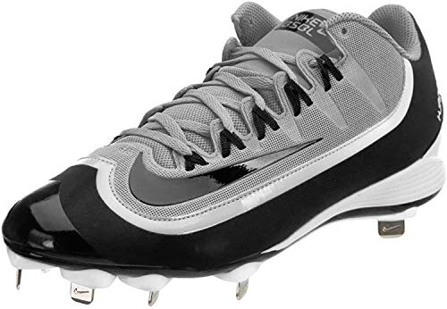 Nike Huarache 2KFilth Pro Low Men's Baseball Cleats, Size 7.5 Wolf Grey, Black, White