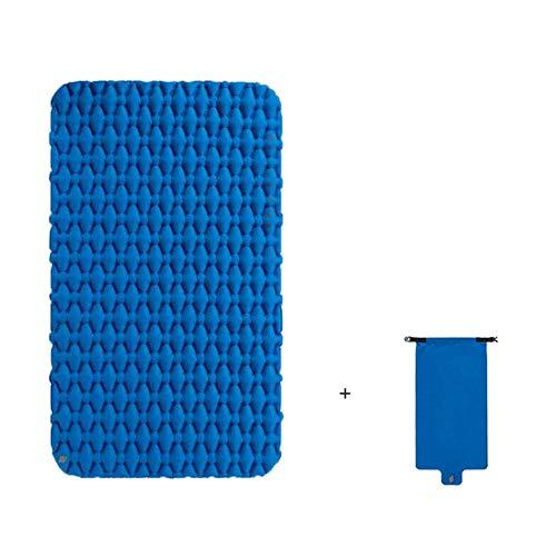 Cojín inflable a prueba de humedad del colchón del saco de dormir del cojín inflable del camping al aire libre con el bolso inflable para 1-2 personas
