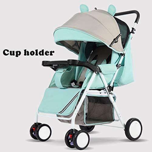 STRR Baby kinderwagen, converteerbare ligstoel, opvouwbare en draagbare kinderwagen, 5-punts harnas en mand met hoge capaciteit