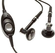 Headset Verizon Handsfree Earphones w Mic Dual Earbuds Headphones Earpieces 3.5mm Stereo Wired [Black] for LG Q6 - LG Q7 Plus - LG Stylo 4