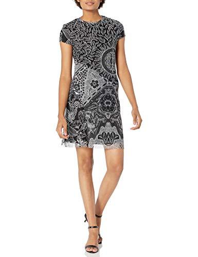 Desigual Vest_Paris Vestido Casual, Negro, XL para Mujer
