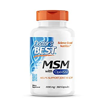 Doctor s Best MSM with OptiMSM Joint Support Immune System Antioxidant and Protein-Building Role Non-GMO Gluten Free 1000 mg 360 Capsules