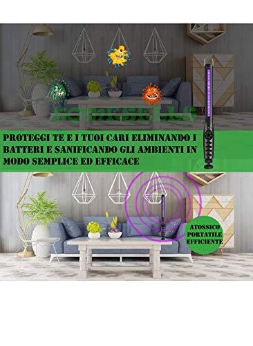 Lampada Uv Germicida Di Ultima Generazione 30 Luci Uvc Sterilizzatrici Led Sterilizzatore Professionale 2200 Mah Portatile Smartphone Mascherine Sanificatore Per Ambienti Antibatterica Certificata CE