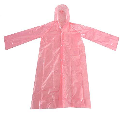 Unsex beschermende wegwerp regenjassen EVA Adult Poncho Cover voorkomt spatten Uitgaande bescherming Portable Waterproof Workwear 10 Pack,Pink