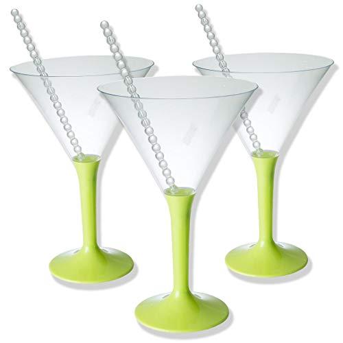 36 Vaso de Martini de plástico | | Durable, desechable o reutilizable | Pequeñas copas de cóctel Cócteles Postres dulces Aperitivo Fiestas de nacimiento Boda de Navidad.